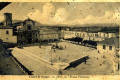 veduta della piazza plebiscito con chiesa s.giovanni prima della guerra